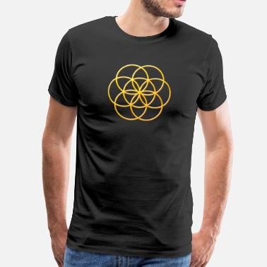 Seed Of Life Seed of Life in Gold - Men's Premium T-Shirt