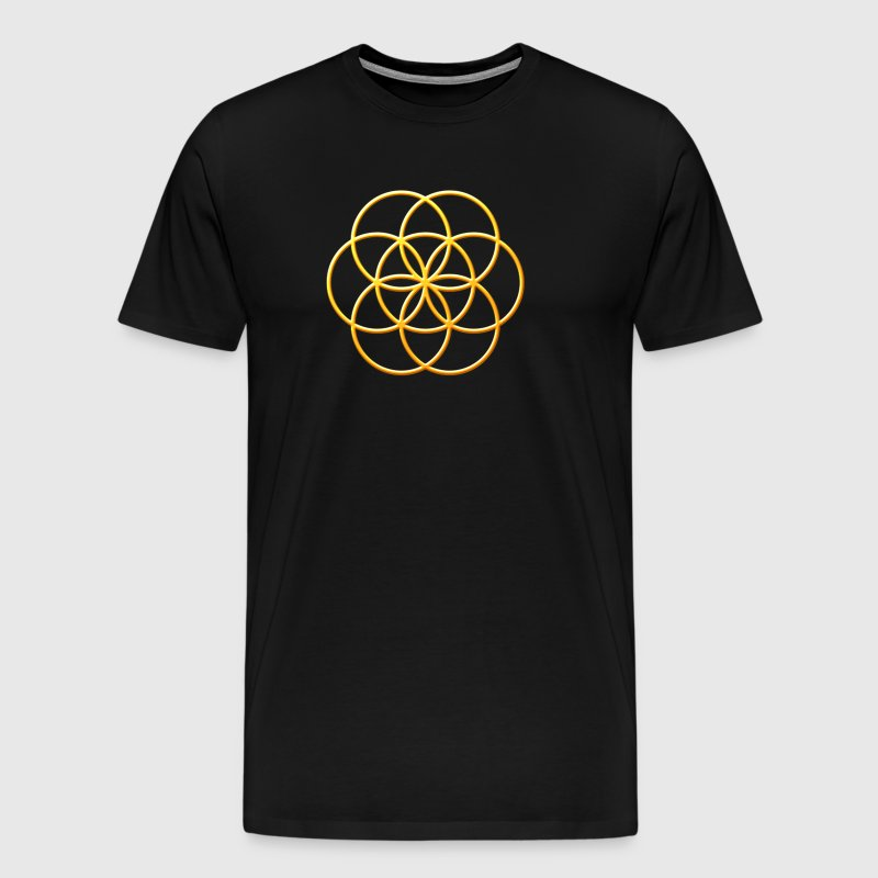 Seed of Life in Gold - Men's Premium T-Shirt