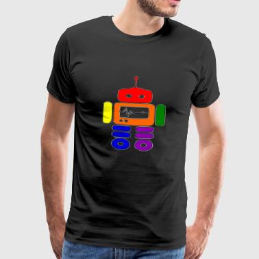 gay pride robot funny - Men's Premium T-Shirt