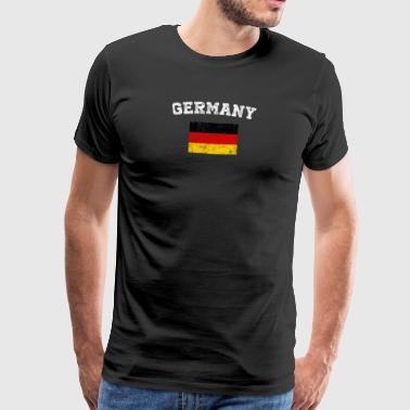 German Flag Shirt - Vintage Germany T-Shirt - Premium-T-shirt herr