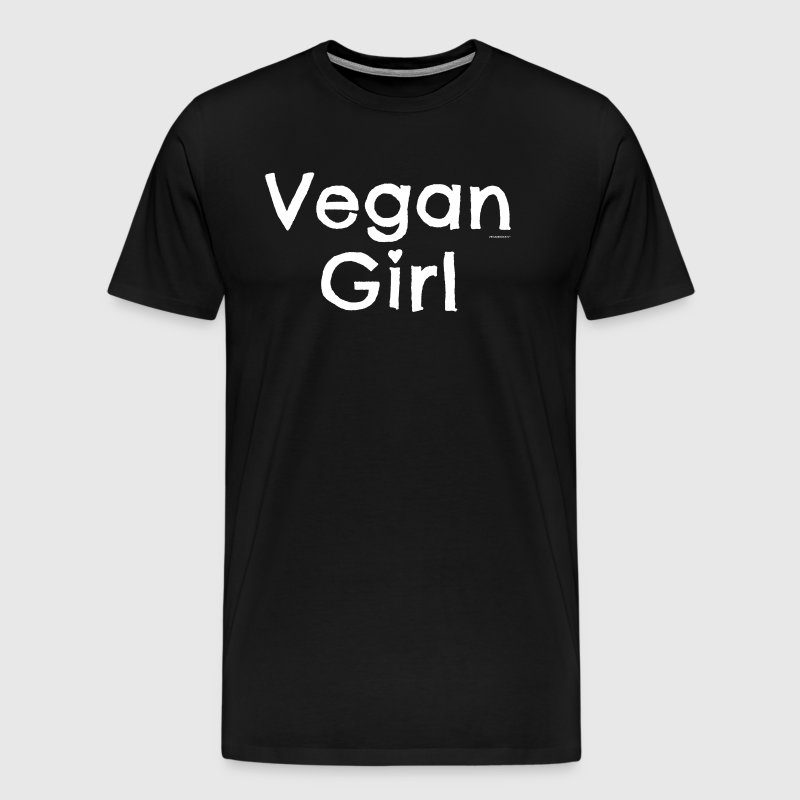 Vegan T-shirt Vegan Girl - Mannen Premium T-shirt