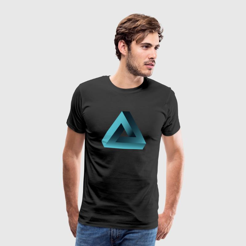 illusion optisk illusion pyramide illuminati ne - Herre premium T-shirt