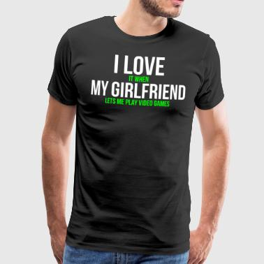 J'aime ma copine T-shirt Funny Gamer - T-shirt Premium Homme