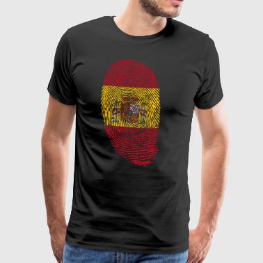Spain fingerprint gift spanish spanish - Men's Premium T-Shirt