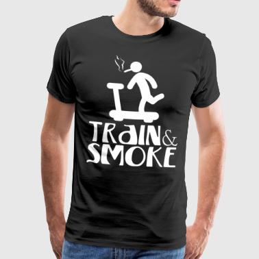 Train Smoke - Männer Premium T-Shirt