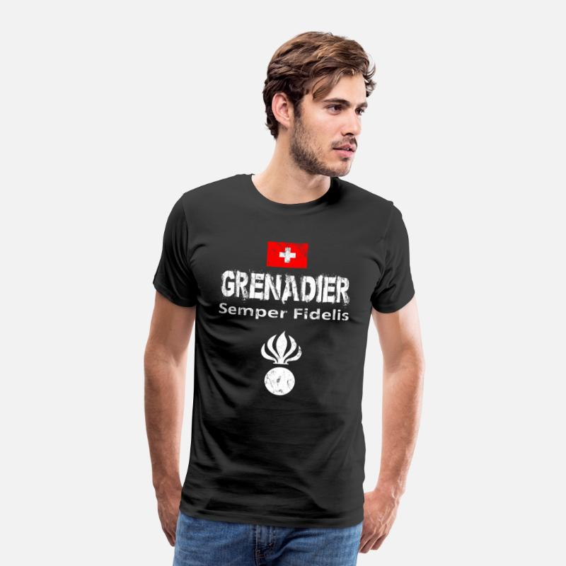 Grenadier T-Shirts - Grenadier Switzerland military army isone gift - Men's Premium T-Shirt black