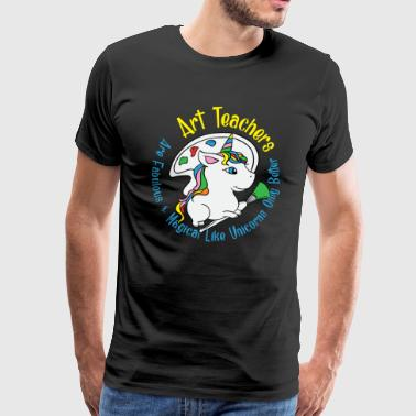Art Teachers - Teacher School Art Eenhoornpenseel - Mannen Premium T-shirt