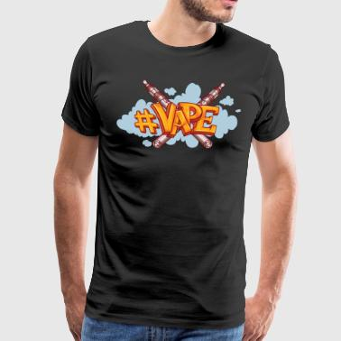Vaper with smoke - Men's Premium T-Shirt