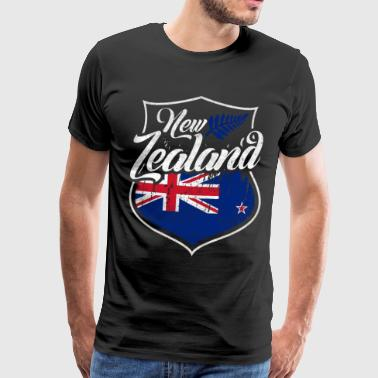 Nation New Zealand flag - Men's Premium T-Shirt
