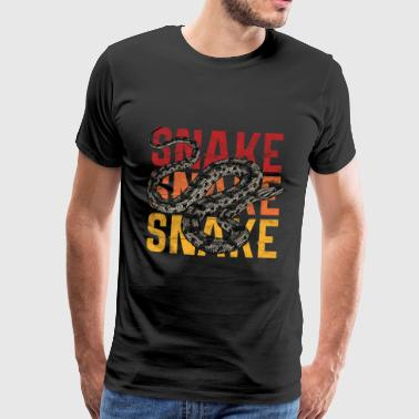 Stockman Snake Zoo Animal Gift - Men's Premium T-Shirt