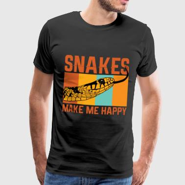 Serpent Snake animal Phyton gift - Men's Premium T-Shirt