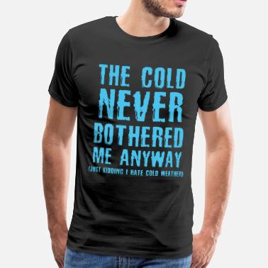 Statue Cold weather winter holiday gift - Men's Premium T-Shirt
