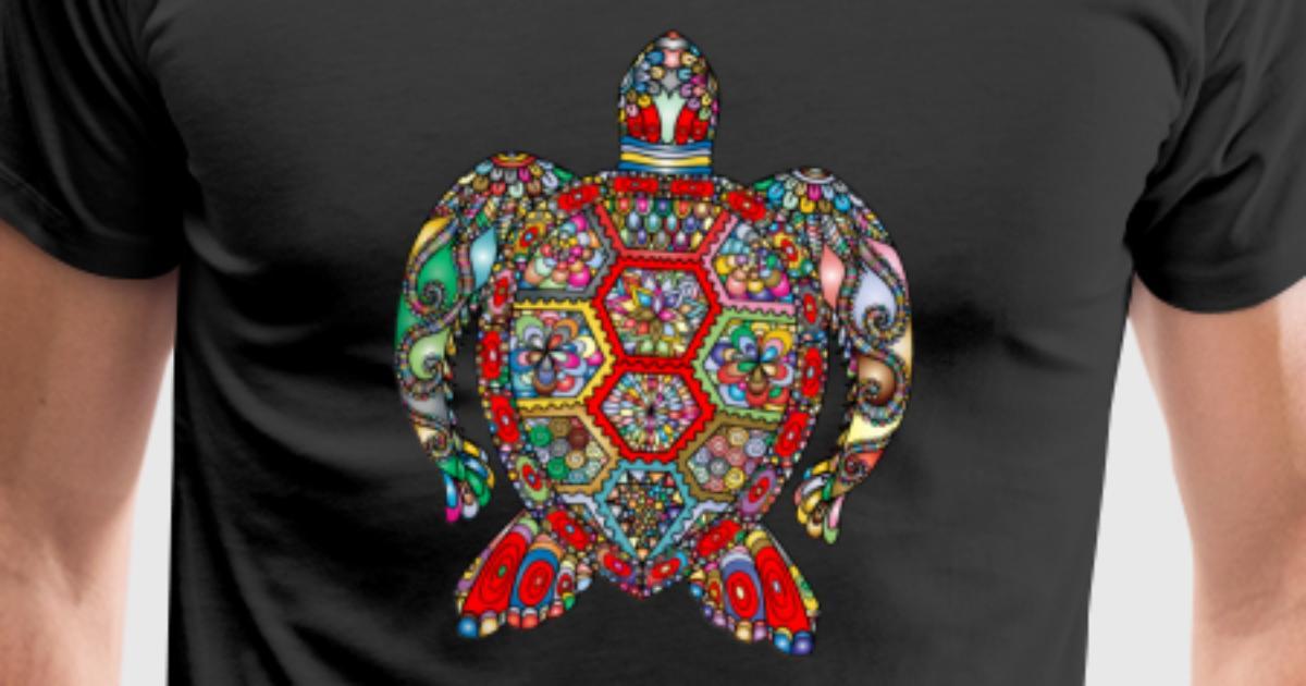 Schildkröte Hippie Style von Tregis | Spreadshirt