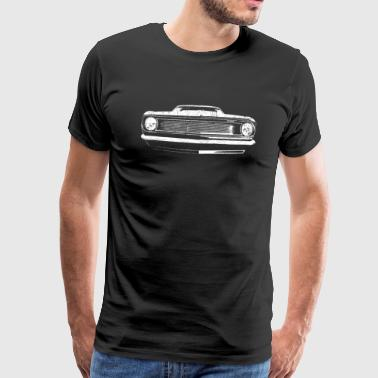 1966 muscle car - white - Men's Premium T-Shirt