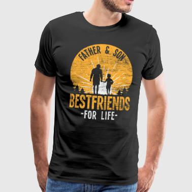 Father and son Best friends for life - Men's Premium T-Shirt