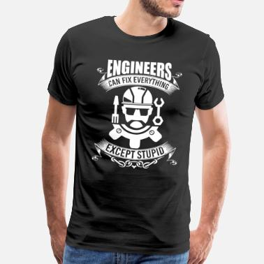 Cartoon Ingenieur Ingenieur - Männer Premium T-Shirt