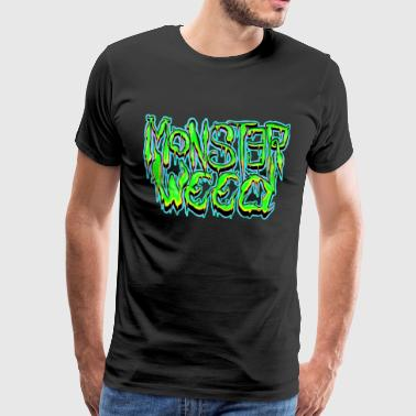 Monstertruck monster onkruid - Mannen Premium T-shirt