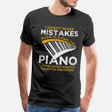 Piano piano - Premium T-skjorte for menn