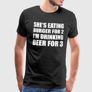 Burger for 2 beers for 3 - Men's Premium T-Shirt