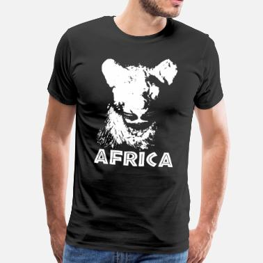 Continent Africa Safari Lion Africa Vacation Trip Travel - Men's Premium T-Shirt