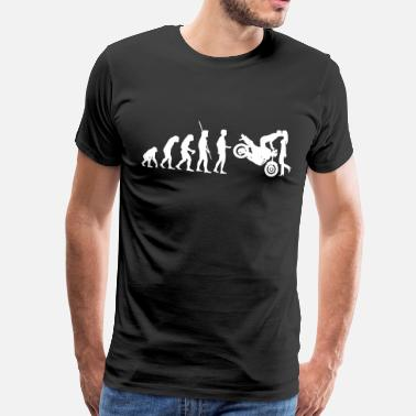 Naked Bike Evolution Naked Bike kiss - Men's Premium T-Shirt