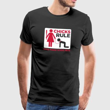 Women Power: Chicks Rule.Boys Make Good Pets - Men's Premium T-Shirt