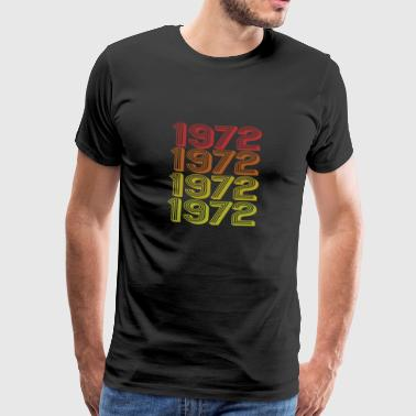 Retro Born In 1972 - Men's Premium T-Shirt