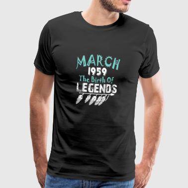 March 1959 The Birth Of Legends - Men's Premium T-Shirt