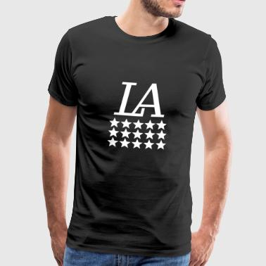 Los Angeles Design in wit 2 - Mannen Premium T-shirt