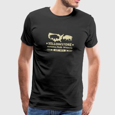 Buffalo Bison Buffalo Yellowstone National Park USA - Herre premium T-shirt