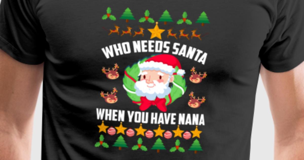 Nana - Geschenk - Weihnachten - Santa - Ugly Oma von TeeBizz ...