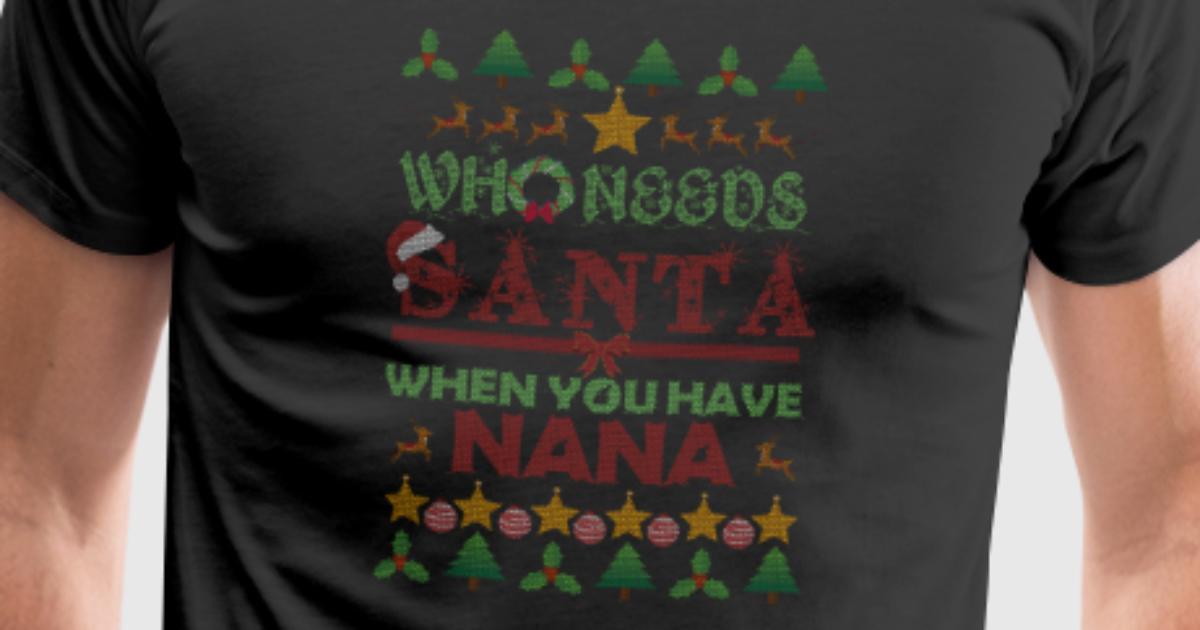 Nana Großmutter Oma Omi Geschenk Weihnachten Ugly von TeeBizz ...