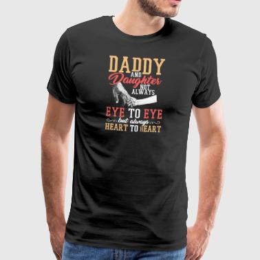 Daddy and Daughter - heart to heart - Men's Premium T-Shirt