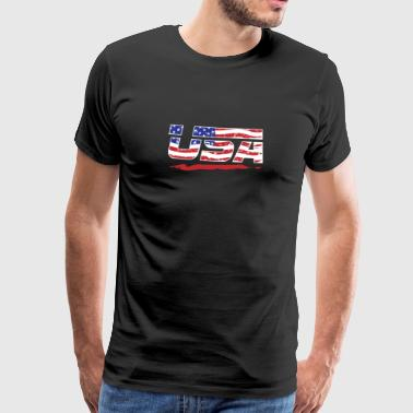 USA Flagge! Amerika! US! Patriot! - Männer Premium T-Shirt