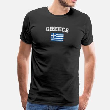 Island Greece Flag Shirt - Vintage Greece T-Shirt - Men's Premium T-Shirt