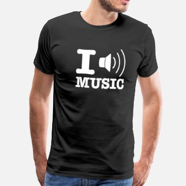Ich Liebe Techno I love music / I speaker music EN - Men's Premium T-Shirt