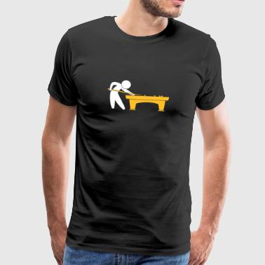 A Pool Player Is On The Pool Table - Men's Premium T-Shirt