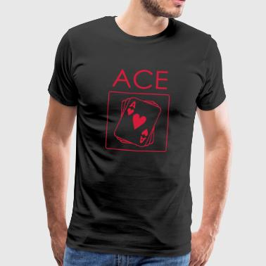 Ace Of Spades Ace pokerhartkaart - Mannen Premium T-shirt