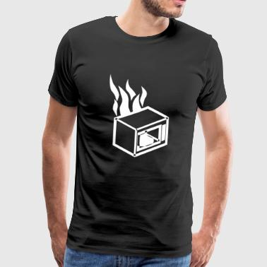 Burning microwave - Men's Premium T-Shirt