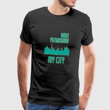 St. Petersburg MY CITY - Premium T-skjorte for menn