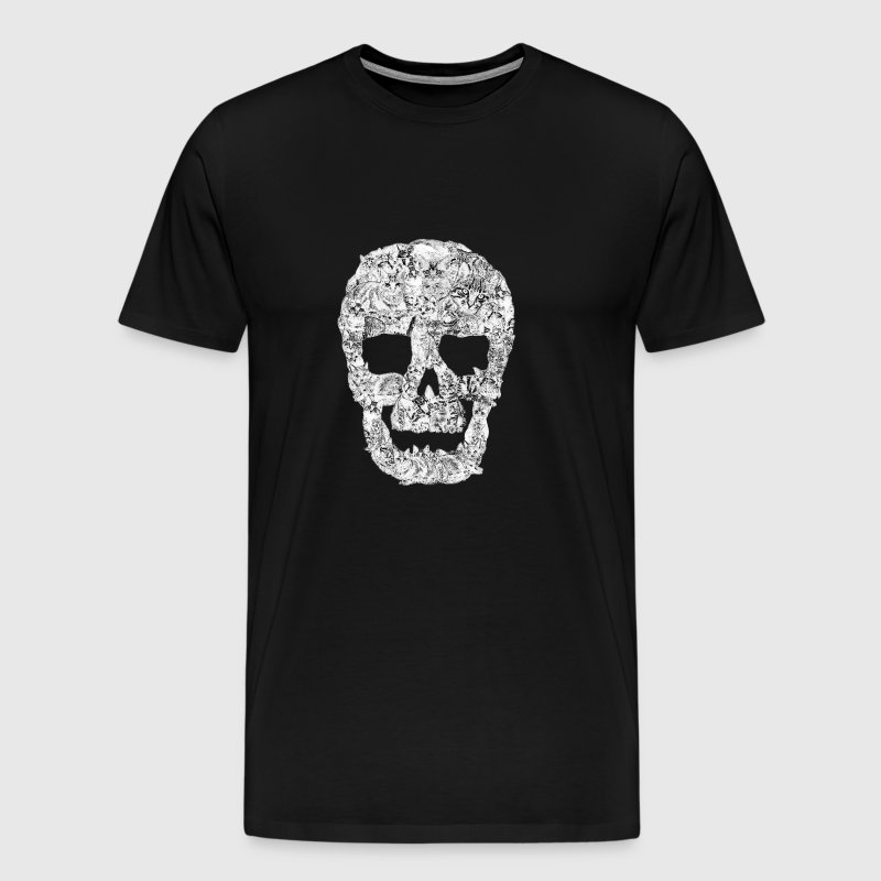 Funny Cat Skull Kitty Cats Kitten Ironic Pet Gift - Men's Premium T-Shirt