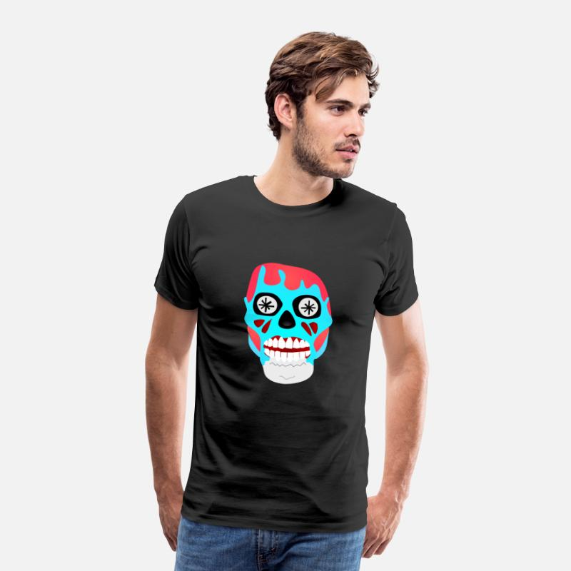 Consume T-Shirts - They Live - Skull - Obey Consume Watch TV - Shirt - Men's Premium T-Shirt black