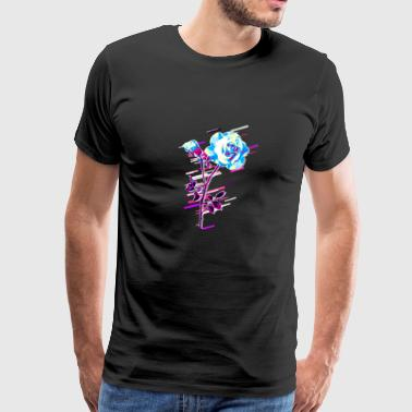 Rose Stem 80s Retro Violet - Herre premium T-shirt