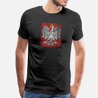 Armor Polish Coat of Arms Poland Symbol - Premium-T-shirt herr