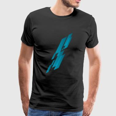 Abstract Rain - Men's Premium T-Shirt