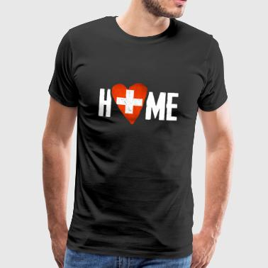 Home Country HOME SWITZERLAND Home country Switzerland Home Flag - Men's Premium T-Shirt