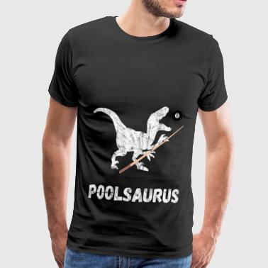Pool Saurus Billiards 8Ball Cue Snooker Gifts - Men's Premium T-Shirt