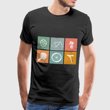 Kilometer We Love Cycling - Mannen Premium T-shirt