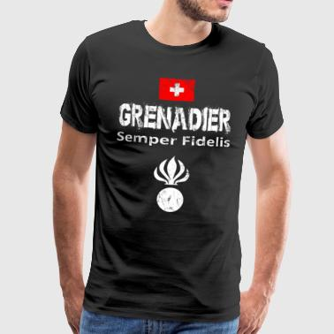 Grenadier Switzerland military army isone gift - Men's Premium T-Shirt