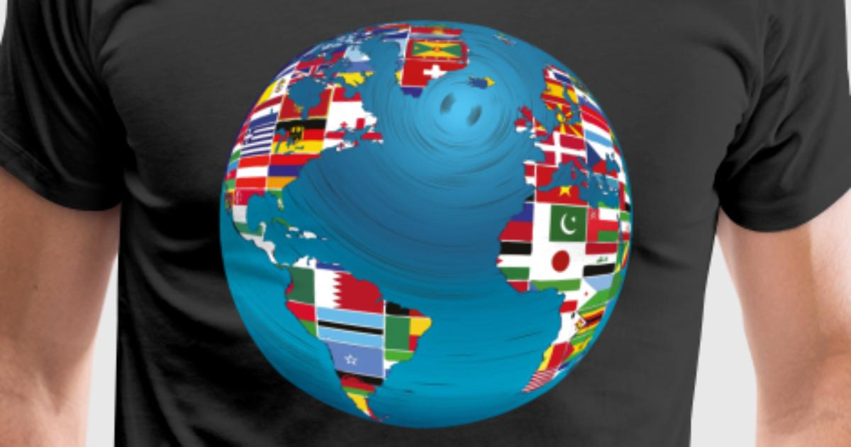 World map globe earth globe country flags continents by mister tee world map globe earth globe country flags continents by mister tee spreadshirt gumiabroncs Images